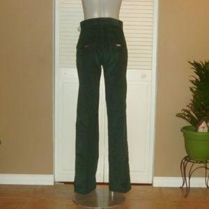 Levis Green Corduroy High Waist Boot Cut Pants